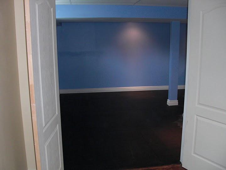Basement bedroom in progress