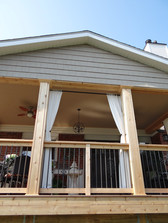Curtained deck for privacy!