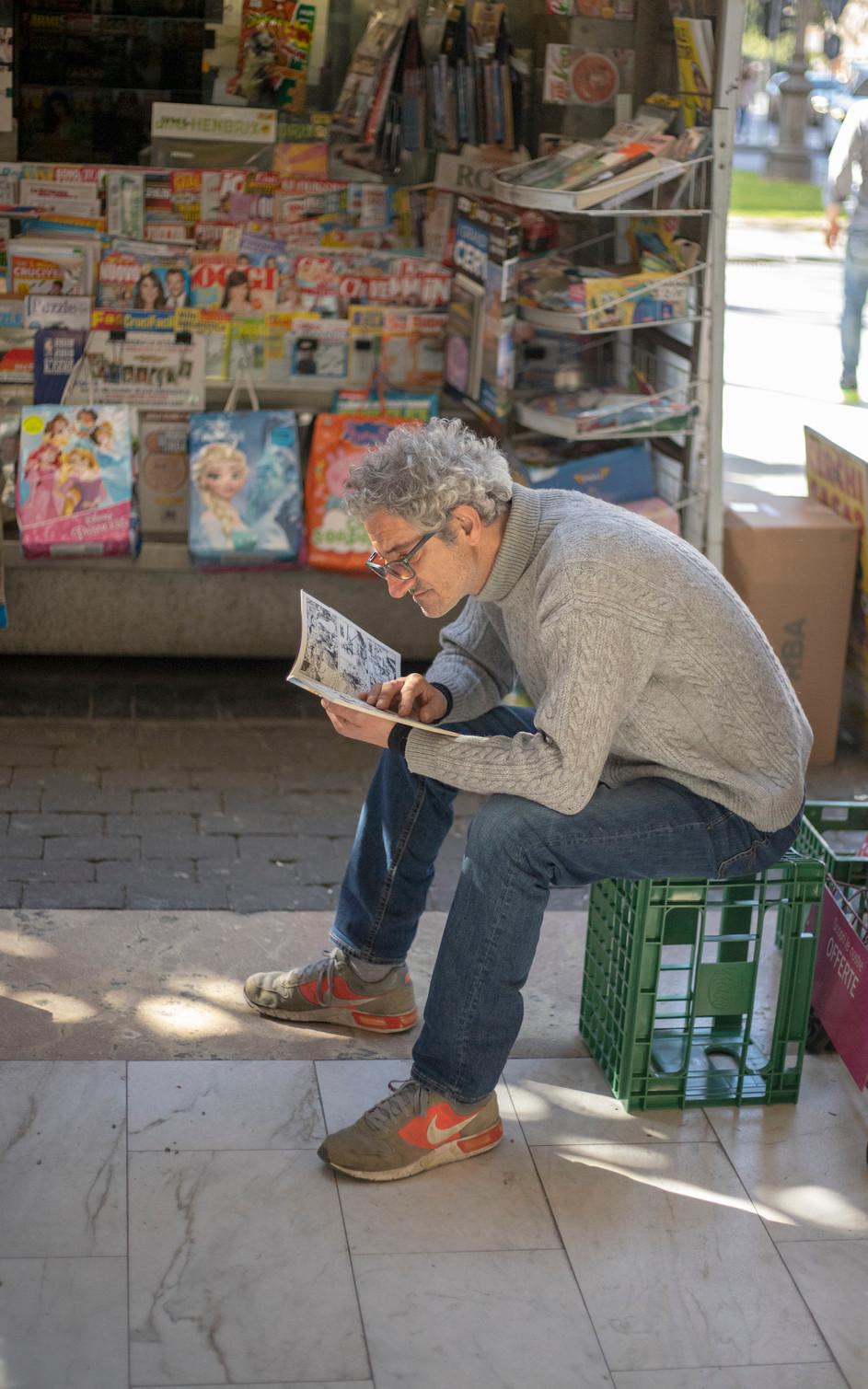 Tge newspapers seller in Pisa