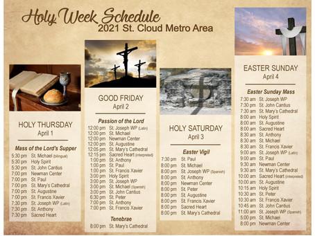 St. Cloud Metro Holy Week Schedule