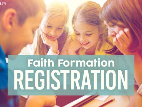 2021-2022 Faith Formation Registration