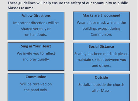 Safety Guidelines for Public Masses