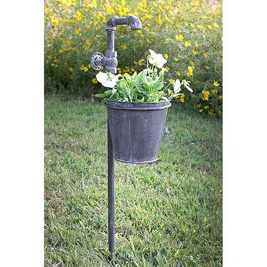 Faucet Garden Stake with Planter