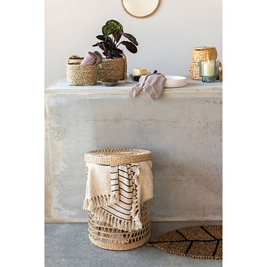 Hand-Woven Seagrass Nested Baskets, Natural, Set of 3