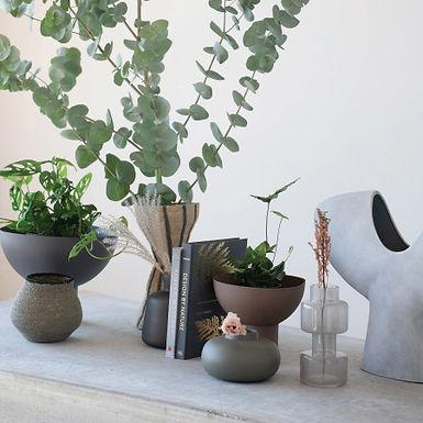 Glass Vase, Milky Grey