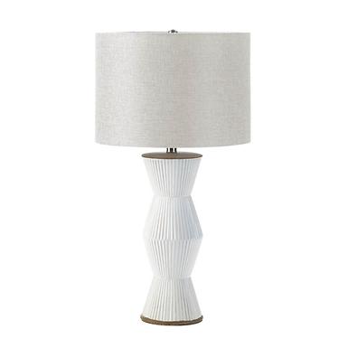 Gable White Ridges Table Lamp