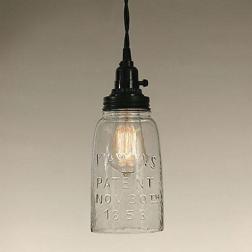 Half Gallon Open Bottom Mason Jar Pendant Lamp