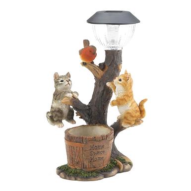 Climbing Cats Solar Light