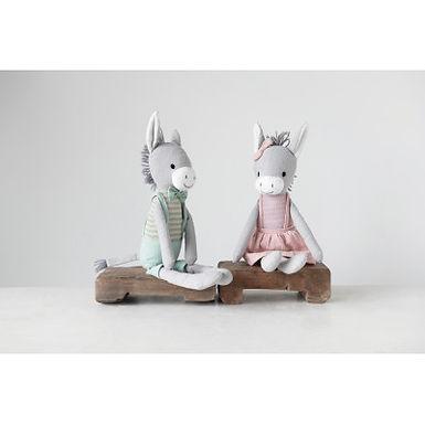 Cotton Knit Plush Donkey (Set of 2 Styles)