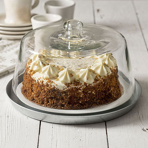 Glass Dessert Cloche with Base