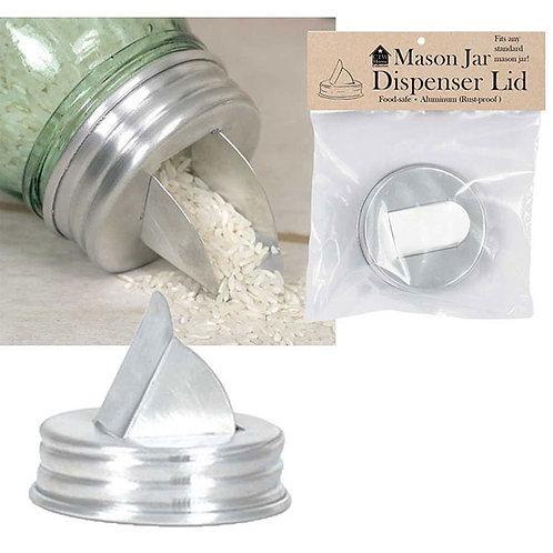 Mason Jar Aluminum Grain Dispenser Lid - Box of 4