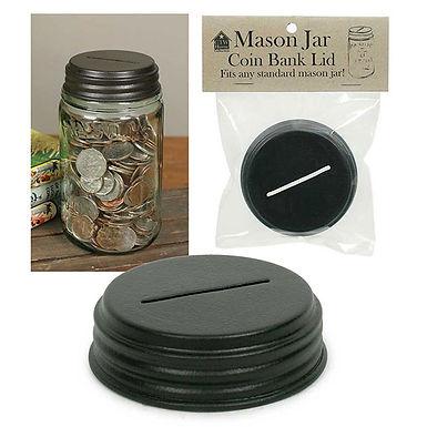 Coin Bank Mason Jar Lid - Box of 4