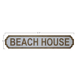 """Beach House"" Wall Sign"