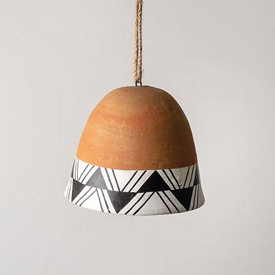 Hand-painted Terra Cotta Bell