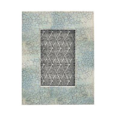 """Bone & MDF Photo Frame, Blue Crackle Finish (Holds 4"""" x 6"""" Photo)"""