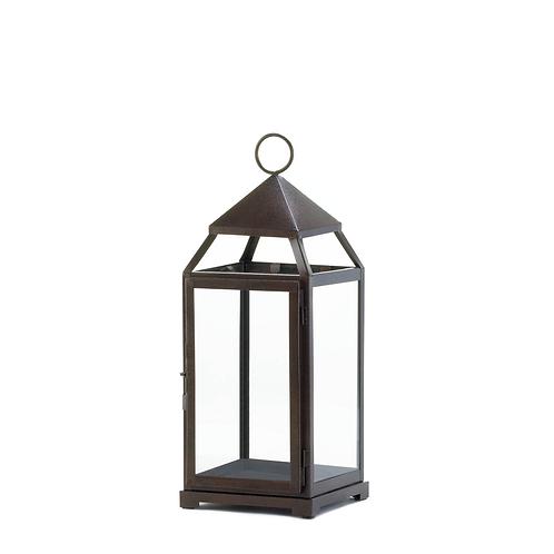 Large Bronze Contemporary Lantern