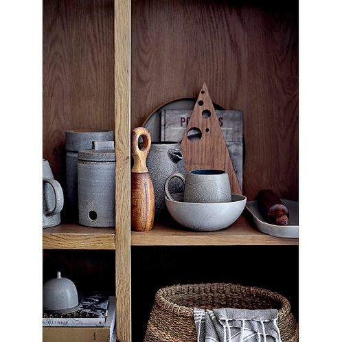 Glazed Grey Stoneware Pitcher