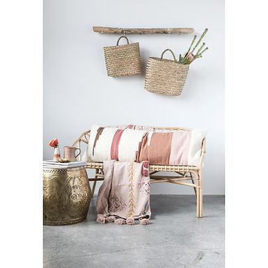 Handwoven Multicolor Cotton Kilim Lumbar Pillow