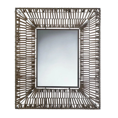 Faux Rattan Rectangular Wall Mirror