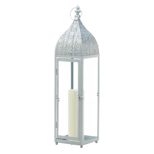 Large Silver Moroccan Style Lantern