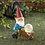 Thumbnail: Gnome With Wheel Barrow Solar Statue