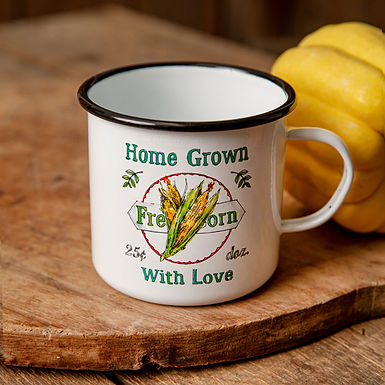 Fresh Corn Enamelware Mug