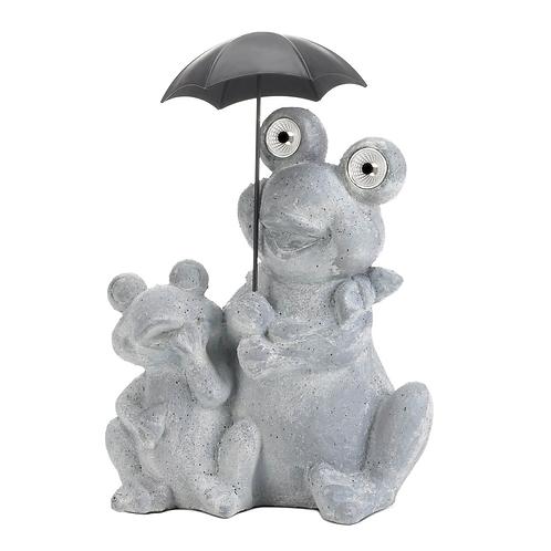 Frogs Under Umbrella Solar Decoration