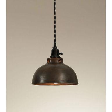 Dome Pendant Lamp - Aged Copper