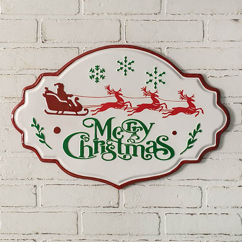 Merry Christmas Metal Wall Sign