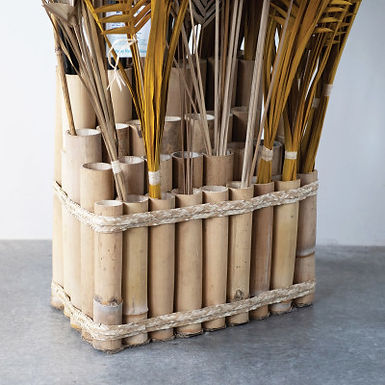 Bamboo Stem Display with 32 Sections