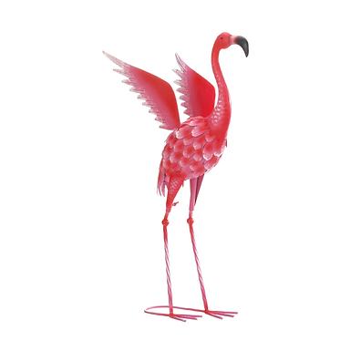 Flying Flamingo Metal Decor