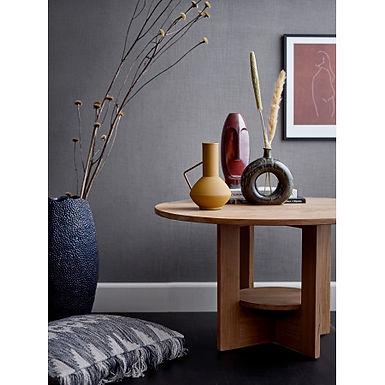 Dark Blue Textured Stoneware Vase
