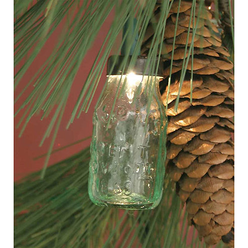 Glass Mini Mason Jar Ornament - Box of 6