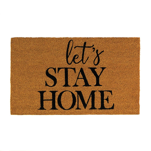 Alice Lets Stay Home Coir Doormat