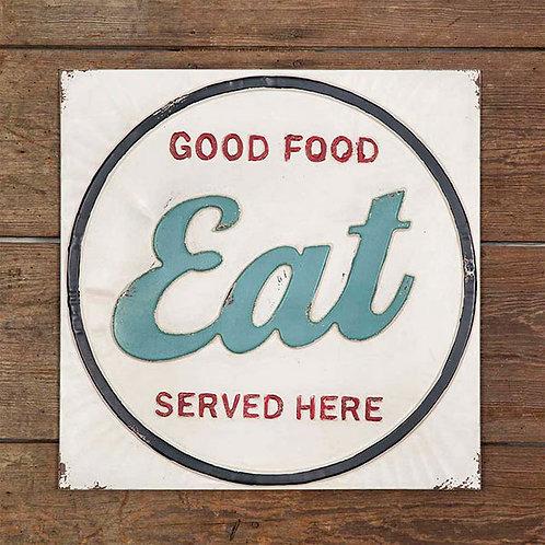Eat Metal Wall Sign