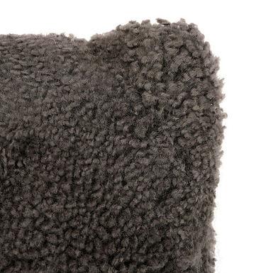 Charcoal New Zealand Lamb Fur Lumbar Pillow