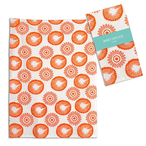Clementine Tea Towel - Box of 4