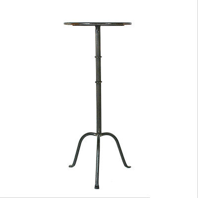 """12.5"""" Round Tray-Style Metal Martini Table"""