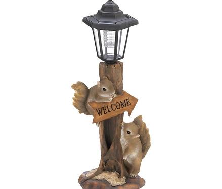 Friendly Squirrels Solar Lamp