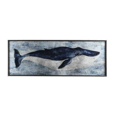 Blue Whale Wood Wall Decor