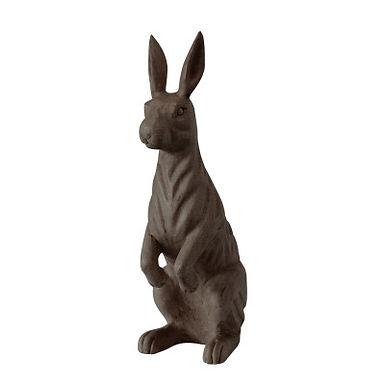 Hand-Carved Mango Wood Rabbit, Espresso Color