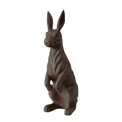 Hand-Carved Mango Wood Rabbit, Espresso Color