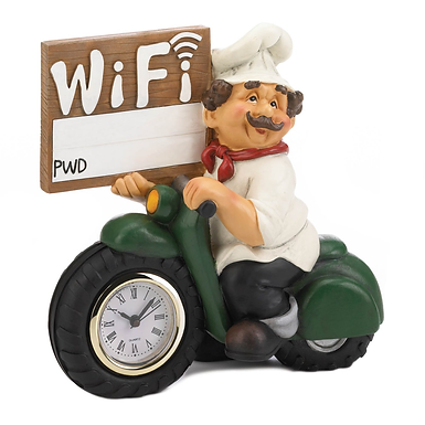 Chef Wifi Sign Clock