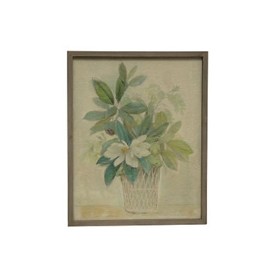 """28""""H Magnolia in Planter Wood Framed Wall Decor"""