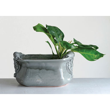 Decorative Grey Terracotta Planter