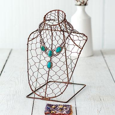 Chicken Wire Necklace Bust