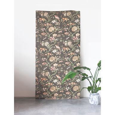 Black Floral Decorator Paper