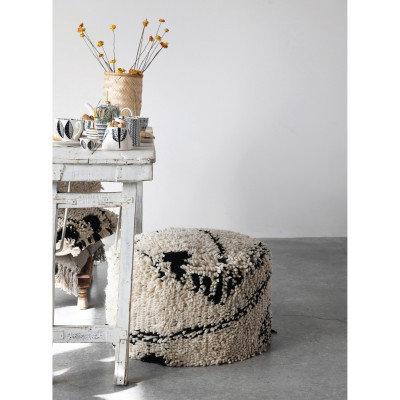 18 oz. Stoneware Teapot with Pattern & Gold Electroplating, Black & White