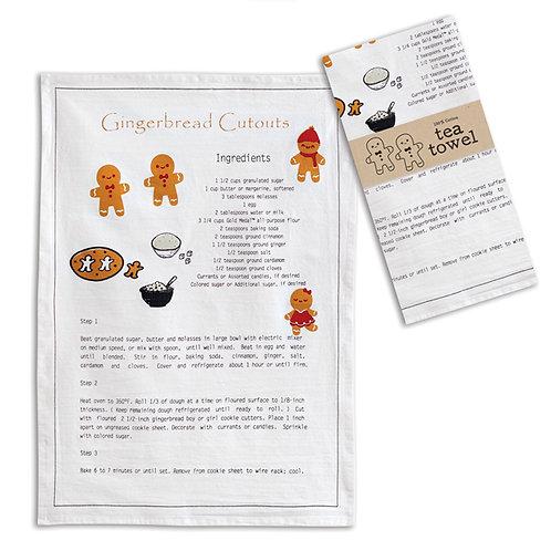 Gingerbread Recipe Tea Towel - Box of 4