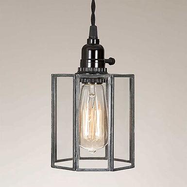 Glass Drum Pendant Lamp
